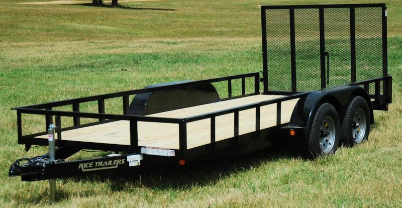 2017 Rice 76x14 Tandem Utility w/4' Ramp Gate