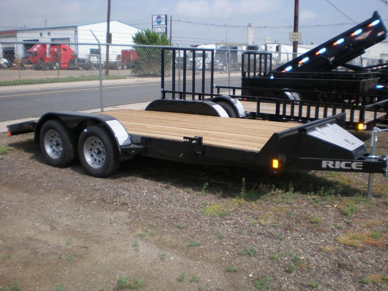 2018 Rice 82x16 Flatbed Car Hauler - Dovetail