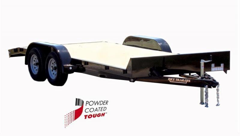 2018 Rice 82x16 Flatbed Car Hauler - Dovetail