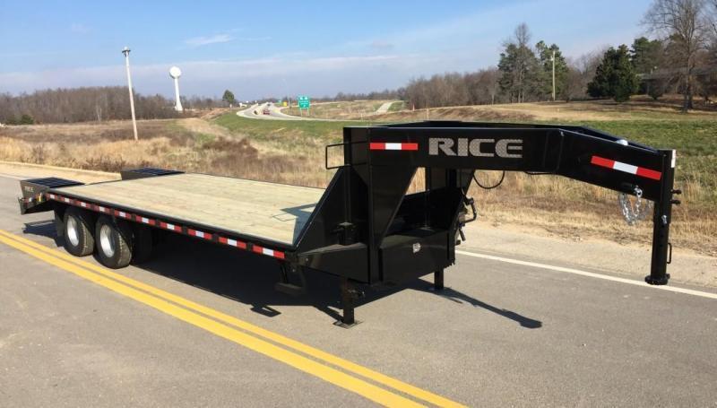 2016 Rice 8x30 Gooseneck Deckover Trailer