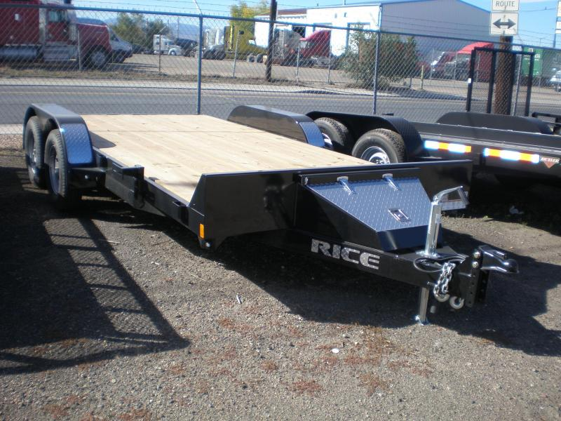 2017 Rice 7X16 Flatbed Car Hauler Trailer