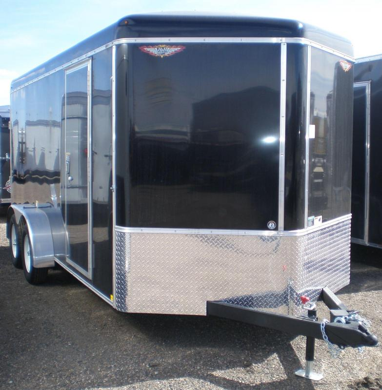2018 H&H 7X16 Enclosed Cargo Trailer - V-Nose