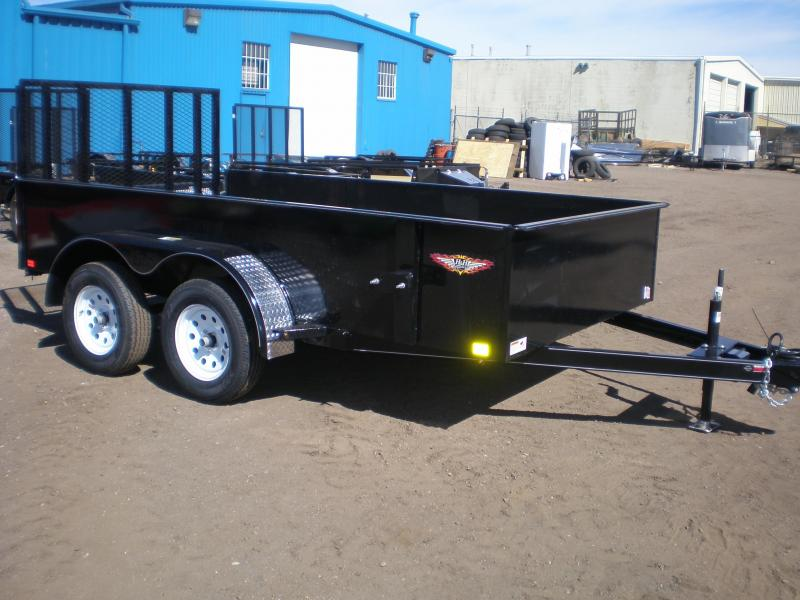 2017 H&H 76X12 Tandem Axle Solid Side Utility Trailer