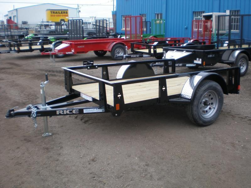 2019 Rice 5x8 Utility Trailer - No Ramp