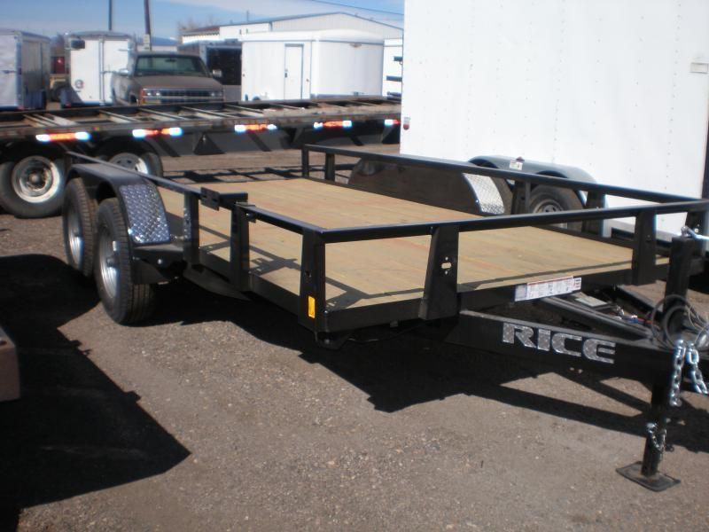 10K Rice 82x14 Utility Trailer - W/Ramp