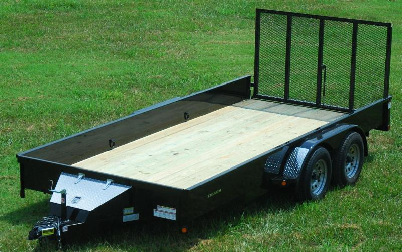 "2016 Rice ""Stealth"" 82x14 Utility Trailer"