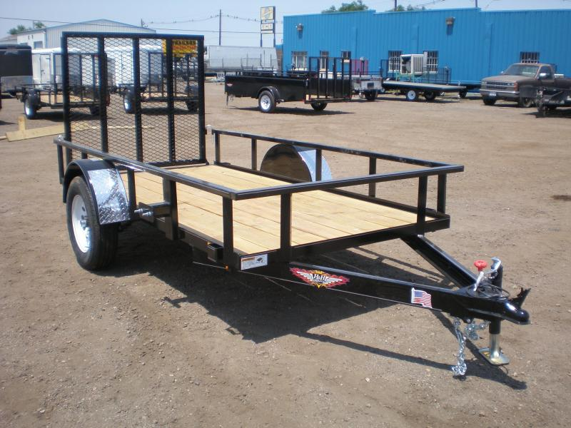 2018 H and H Trailer 5x10 Utility w/Ramp Gate Utility Trailer
