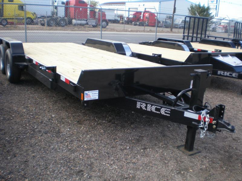 2018 Rice 82x20 HD Flatbed Equipment Trailer 10K