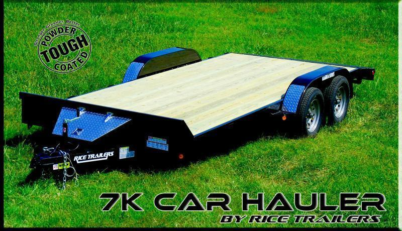 2018 Rice 82x18 Flatbed Car Hauler