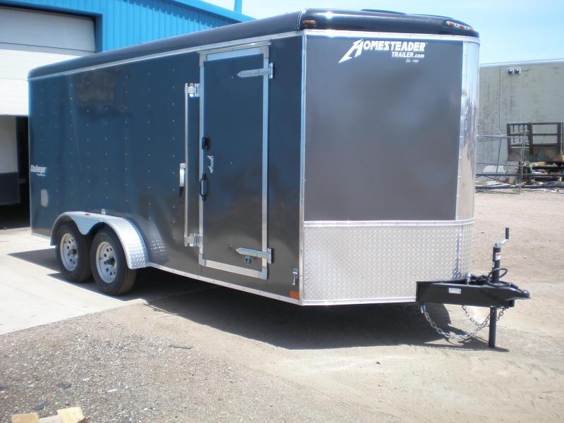 2020 Homesteader 7x16 Enclosed Cargo V Nose Trailer w/Ramp