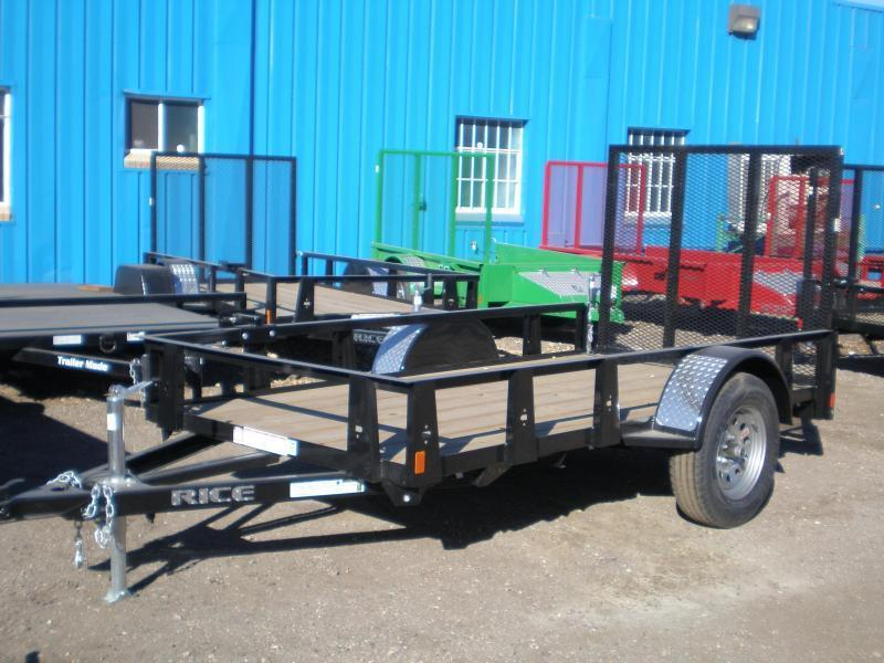 2018 Rice 5x10 Utility Trailer W/Gate