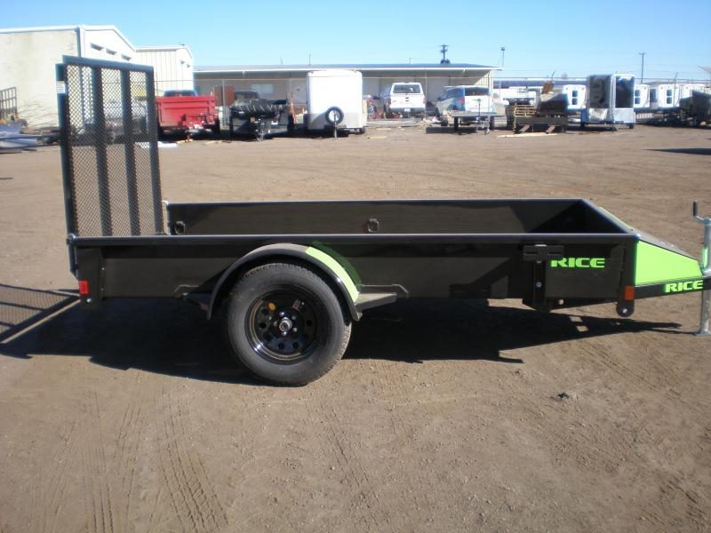 "2017 Rice ""Stealth"" 5x10 Utility Trailer - Green Accents"