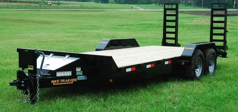 2018 Rice 14K 82x20 Flatbed Equipment Trailer