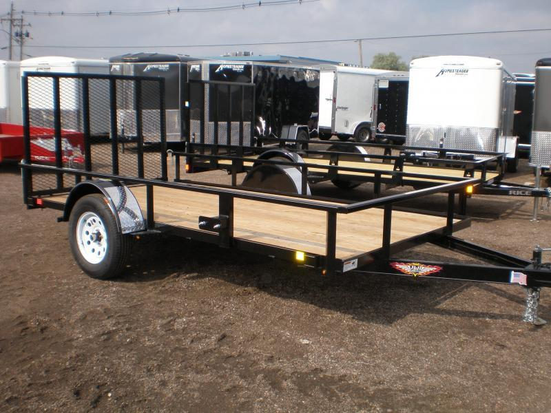 2018 H&H 76x12 Utility Trailer w/Spring Assist Ramp
