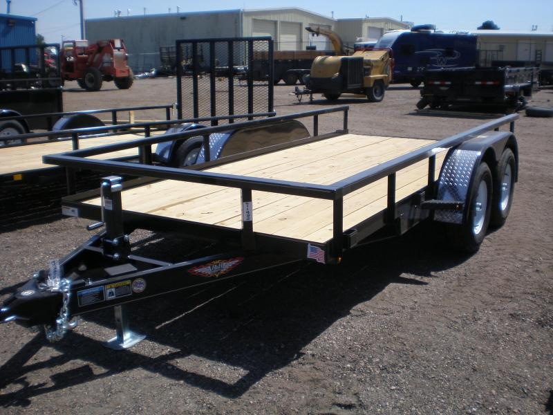 2019 H&H 76x14 Tandem Axle Utility Trailer 10K