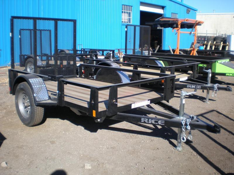 2018 Rice RS 5x8 Utility Trailer w/Gate