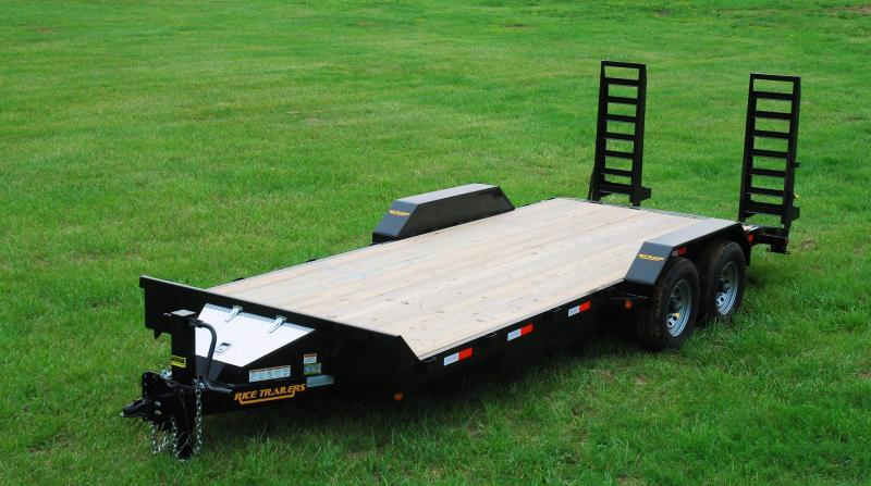 2017 Rice 82x16 Flatbed Equipment Trailer 14K