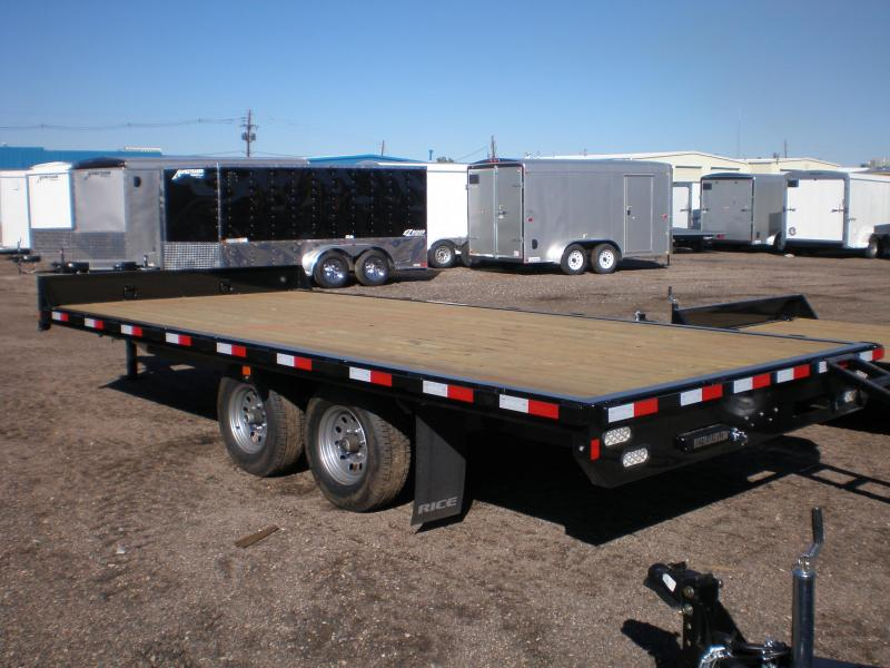 2020 Rice 18' Deckover Flatbed Trailer 10K