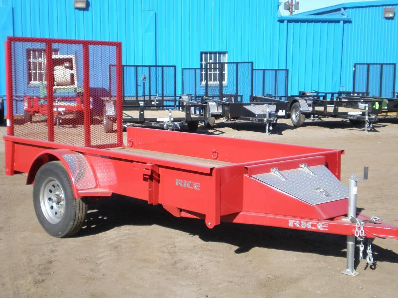 "2017 Rice ""Stealth"" 5x10 Utility Trailer - Red"