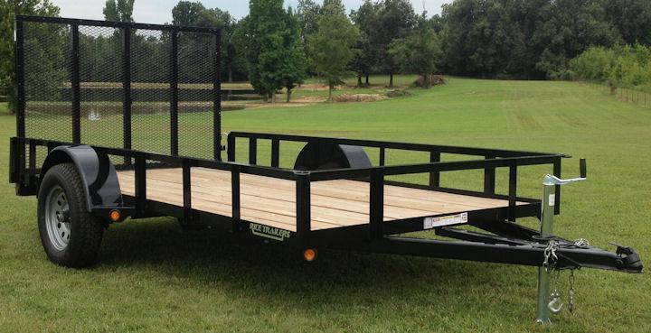 2017 Rice 76x10 Utility Trailer w/Ramp Gate