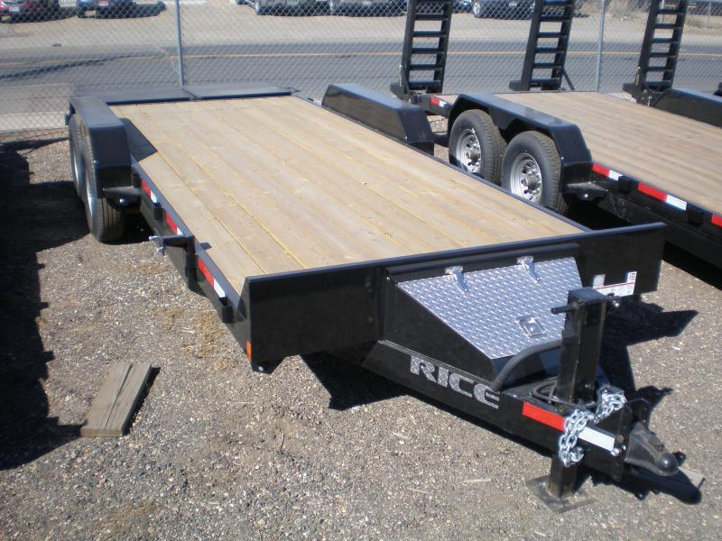 2017 Rice 82x20 Flatbed Equipment Trailer w/Max Ramps
