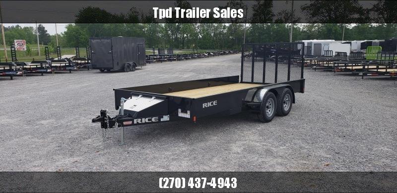 "2020 Rice 82""X16' Utility Trailer"