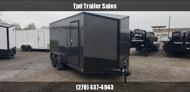 2019 Spartan 7'X16' Blackout Enclosed Trailer