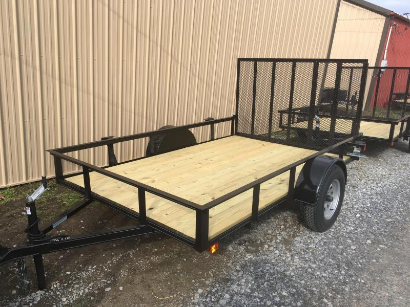 2019 Other (Not Listed) 76x10 gate single axle Utility Trailer