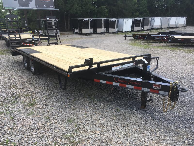 2019 Quality Trailers 20ft 16+4 5ton Deckover Bumper Pull w/pop up dove Equipment Trailer