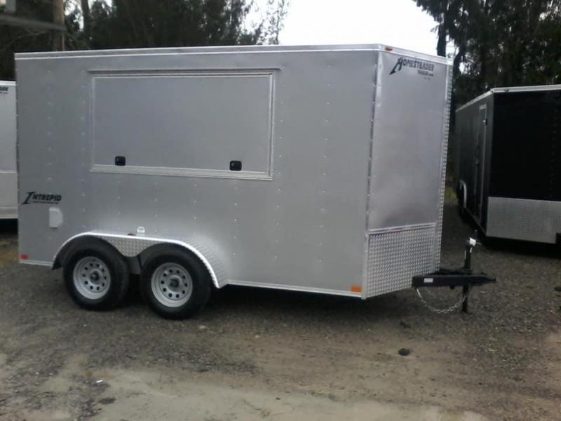 2019 Homesteader 6x12 Intrepid tandem Concession 6in extra ht sd ramp Enclosed Cargo Trailer