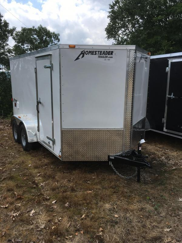 2019 Homesteader 7x12 tandem axle Intrepid sd ramp door Enclosed Cargo Trailer