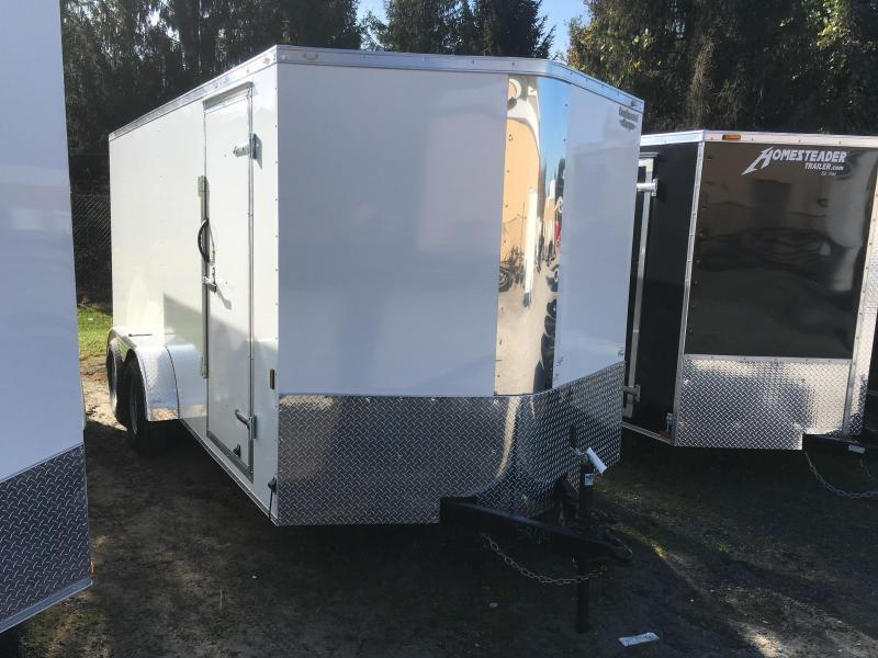 2018 Continental Cargo 7x16 vnose sd ramp door Enclosed Cargo Trailer