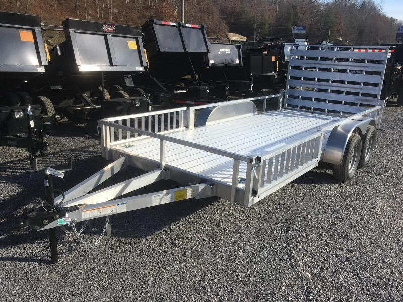 2019 Forest River 78x16 all aluminum w/side ramps Utility Trailer