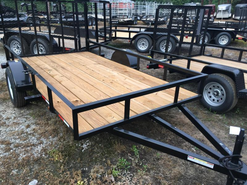 2016 Other (Not Listed) 76x12 gate single axle Utility Trailer