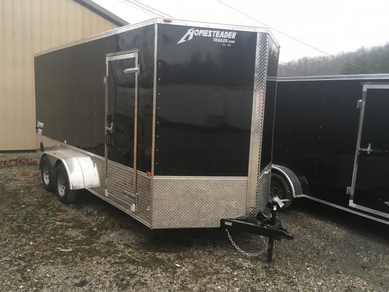 2019 Homesteader 7x16 Patriot/Intrepid OHV pkg 1ft extra height Enclosed Cargo Trailer