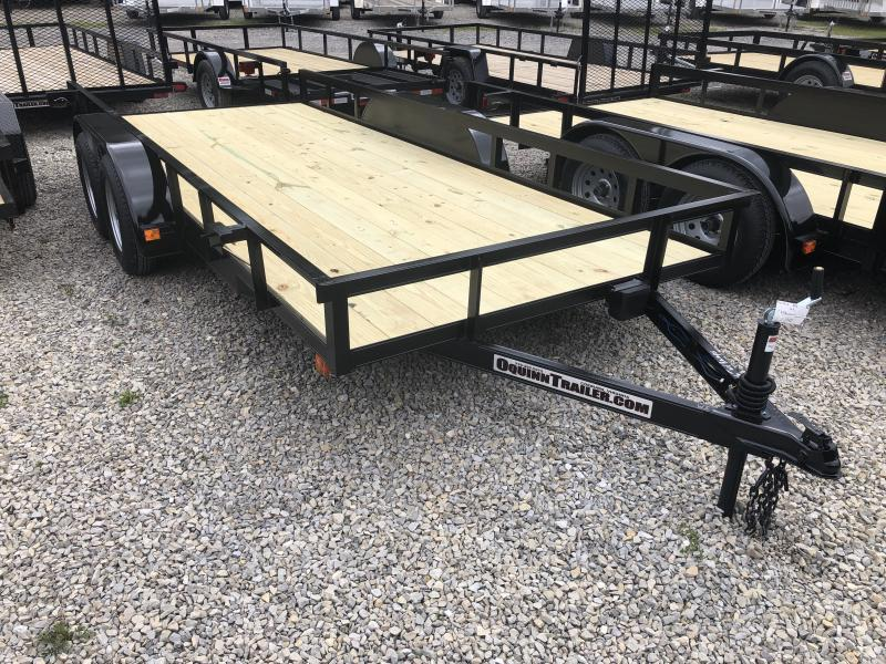 2019 76x16 tandem utility with brakes and no gate w/slide under ramps Utility Trailer