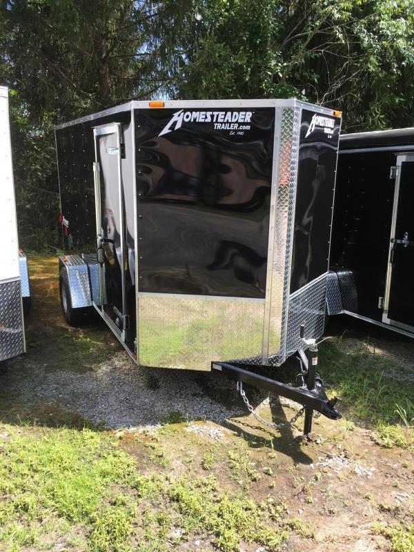 2017 Homesteader Inc. 6x12 patriot ramp single axle Enclosed Cargo Trailer