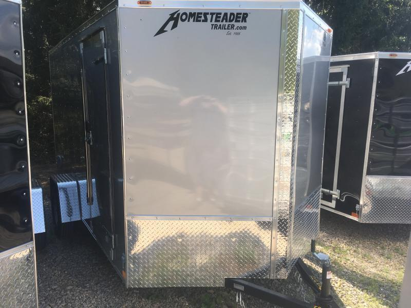 2019 Homesteader 7x12 Intrepid single axle 6in extra ht sd ramp door Enclosed Cargo Trailer