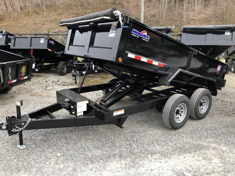 2019 Hawke Trailers 6X12 5TON Low Profile WITH TARP AND RAMPS Dump Trailer