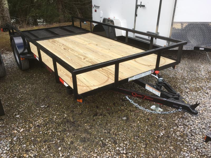 2019 Quality Trailers 77x14 PRO SERIES single axle w/gate Utility Trailer