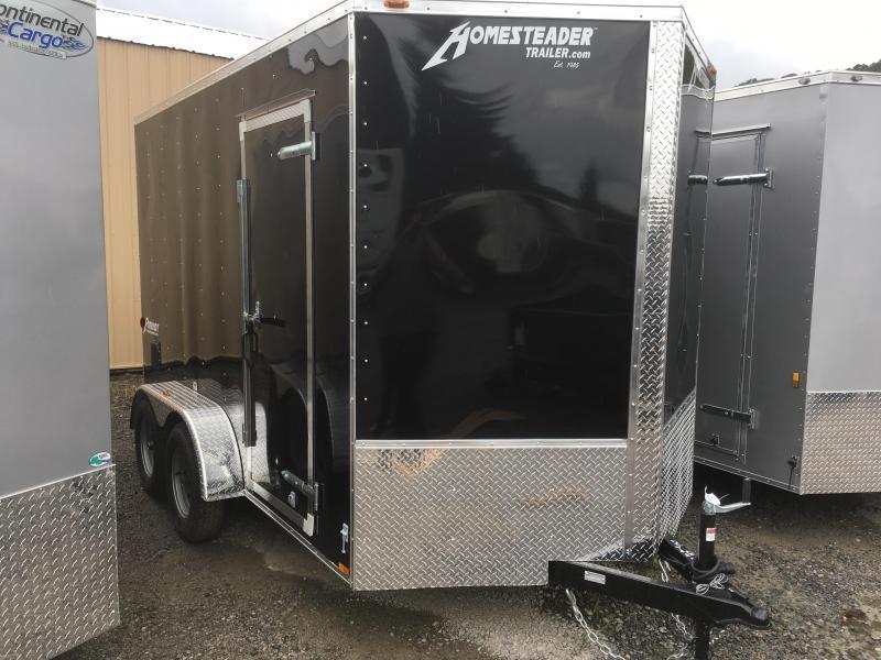 2019 Homesteader 7x12 Intrepid tandem 12in extra ht sd ramp Enclosed Cargo Trailer