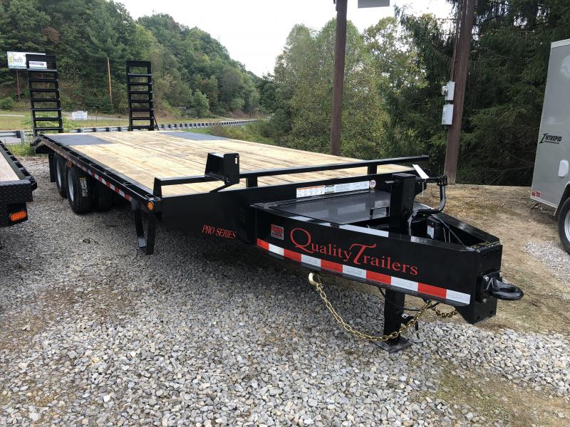 2020 Quality Trailers 25' 20+5 25k Pintle Deckover Equipment Trailer