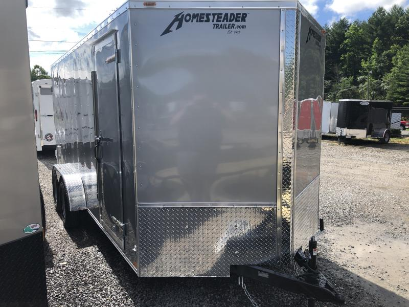 "2020 Homesteader Intrepid 7x16 tandem axle 6"" extra ht double door enclosed cargo trailer"
