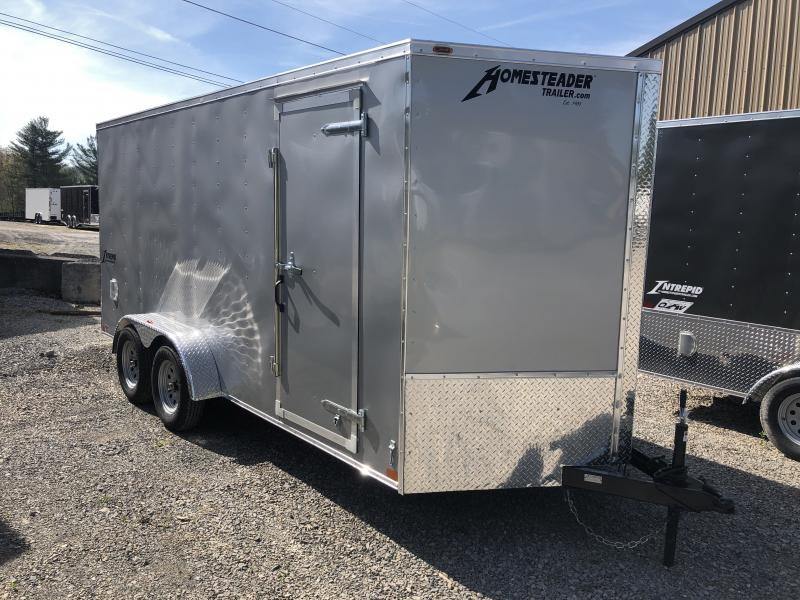 2019 Homesteader 7x16 Intrepid sd ramp 6in extra ht 6.5 tall inside Enclosed Cargo Trailer
