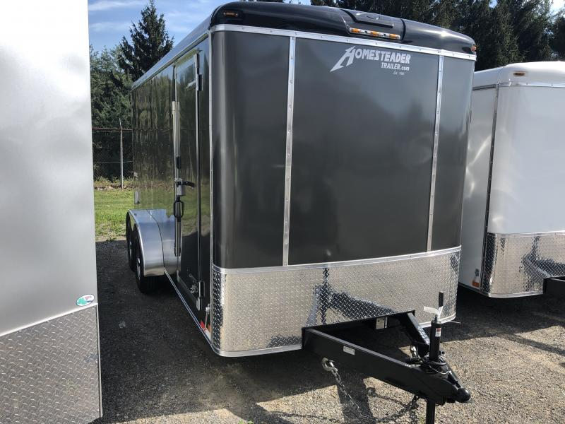 "2019 Homesteader HD 7x16 Hercules 5 Ton sd ramp 7'4"" tall Enclosed Cargo Trailer"