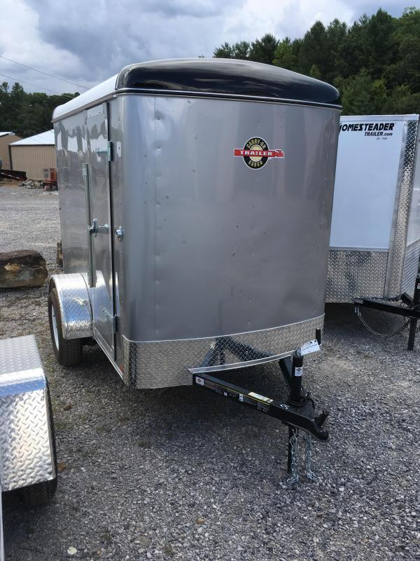 2017 Carry-On 5x8 Round Top 12in extra ht Ramp Door Silver Enclosed Cargo Trailer