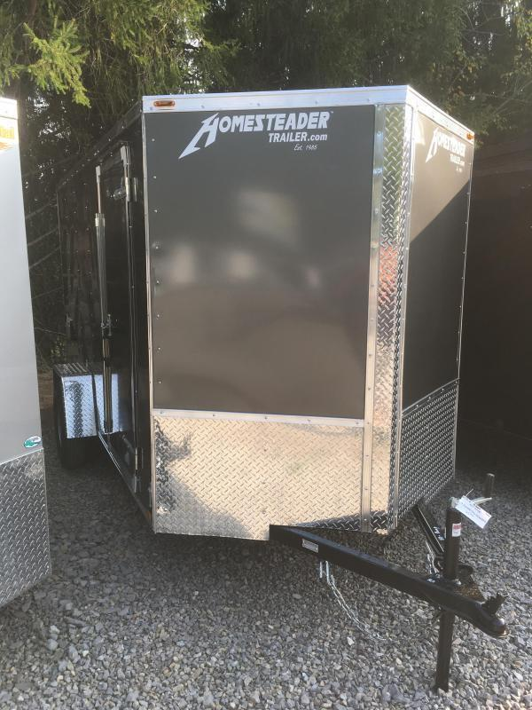 2019 Homesteader Inc. 6x12 intrepid single axle ramp Enclosed Cargo Trailer