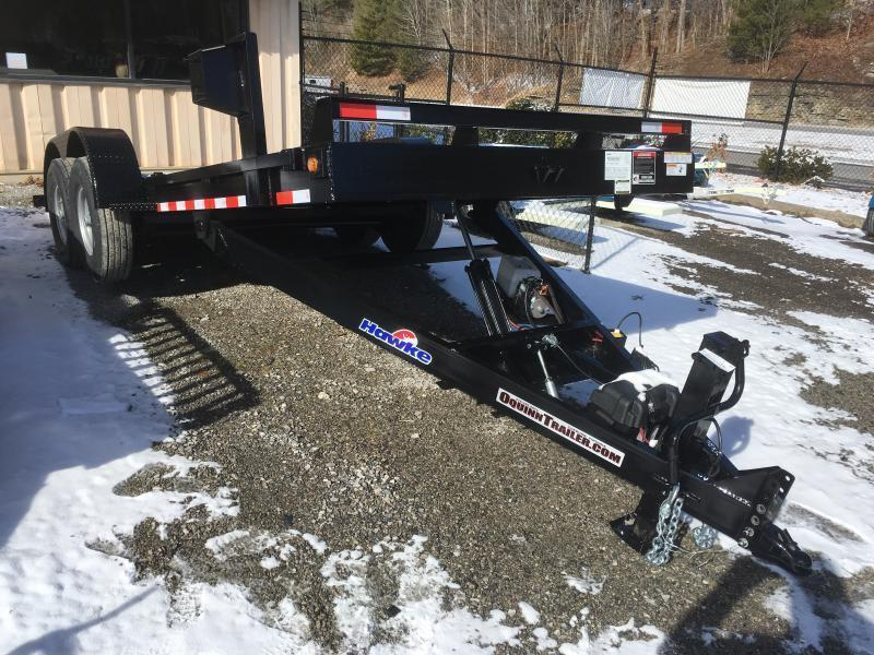 2019 Hawke Trailers 81x20 15k hydraulic tilt steel floor Equipment Trailer
