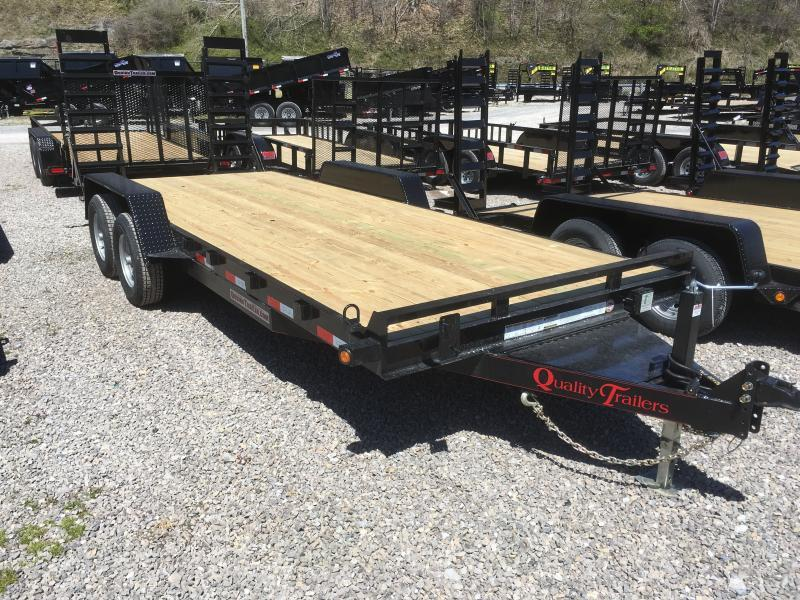 2019 Quality Trailers 82x20 5ton bumper pull w/toolbox Equipment Trailer