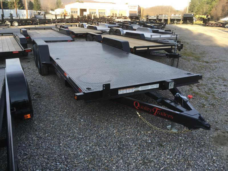 2019 Quality Trailers 82x20 5ton steel floor car hauler left removable fender 4brk Car / Racing Trailer